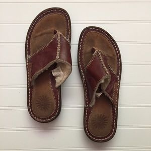 Uggs Shearlings Leather Flip Flop Sandals